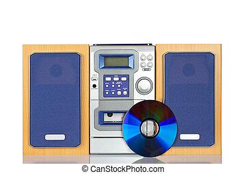 compatto, suono, sistema stereo