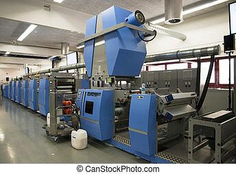 compensación, prensa, impresión, para, etiquetas