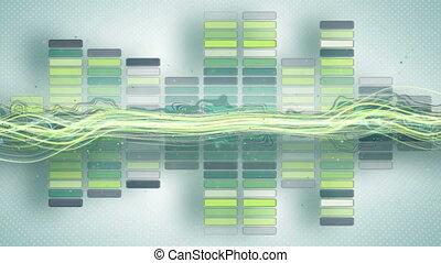 compensateur, animation, musique, courbes, loopable