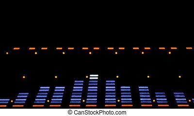 compensateur, image, spectre, analyzer., eq., acoustique