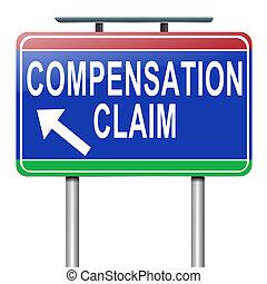 compensation, claim.