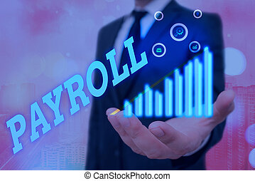 compensation, concept, total, employees., texte, mot, payer, écriture, tout, devoir, business, sien, payroll.
