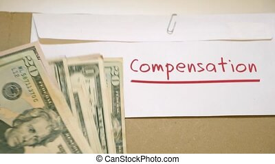 Compensation earnings concept - Compensation claim earnings...
