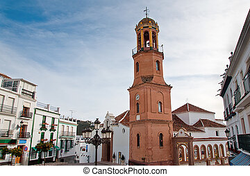 Competa in Spain, a traditional white town/village