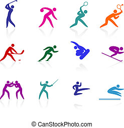 competative and olympic sports icon collection - Original...