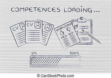 competences loading: CV and shortlist of candidates