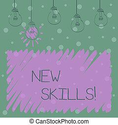 competences., skills., palabra, conocimiento, empresa / negocio, acquired, texto, concepto, escritura, habilidades, nuevo, recientemente, aprendido