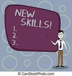 competences., skills., récemment, connaissance, acquired, ...
