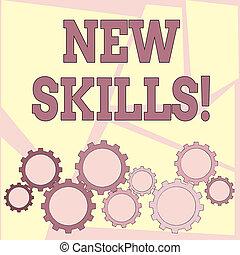 competences., skills., recientemente, conocimiento, acquired, texto, actuación, señal, habilidades, foto, conceptual, nuevo, aprendido
