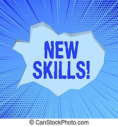 competences., skills., recientemente, conocimiento, empresa / negocio, acquired, foto, actuación, escritura, nota, habilidades, showcasing, nuevo, aprendido