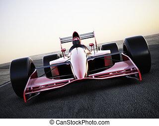 competencia de automóvil, carreras, track.