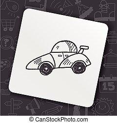 competencia de automóvil, garabato