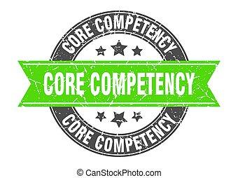 competency, γραμματόσημο , σήμα , στρογγυλός , επιγραφή , ...
