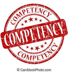 competency, 切手, 型, ゴム, grungy, ラウンド, 赤