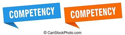 competency banner. competency speech bubble label set. ...