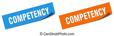 competency paper peeler sign set. competency sticker