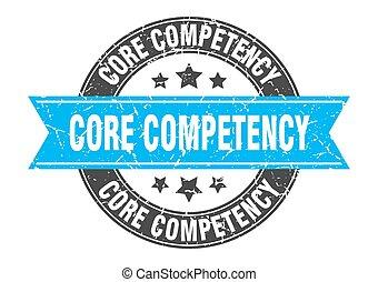 competency, postzegel, meldingsbord, ronde, etiket, ribbon...