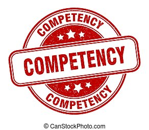 competency stamp. competency round grunge sign. label