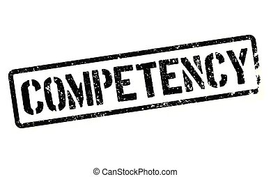 competency stamp on white