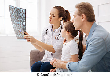 Competent neurosurgeon explain the issue to a family - Look...
