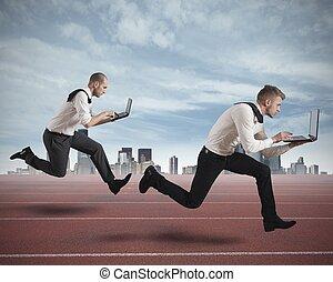 competição, em, negócio