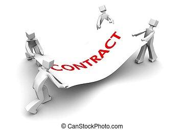 competidor, contrato negócio, luta