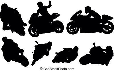 competindo motocicleta