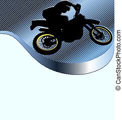 competindo motocicleta, fundo