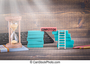 Competition, business concept. Colorful Wooden Blocks