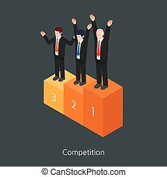 Competition concept design 3d isometric vector illustration