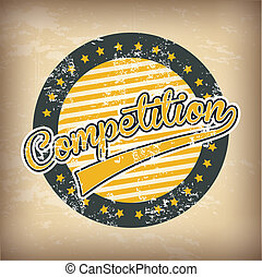 competition design  over background vector illustration