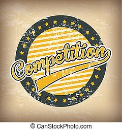 competition design over background vector illustration