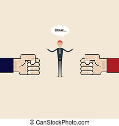 Competition, Mediation or Referee concept. Businessman and ...