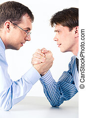 Competition - Conceptual photo of business competition: two...