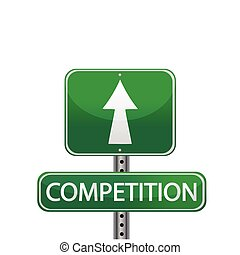competition street sign illustration