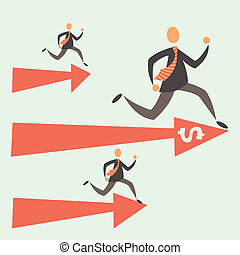 Competition - the competition among businessmen. the leader ...
