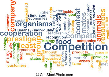 competition wordcloud concept illustration