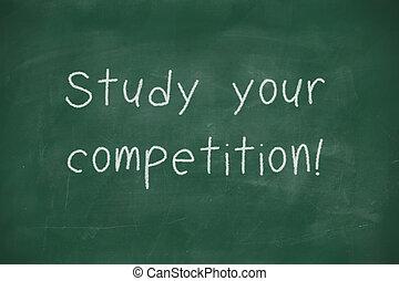 competitionhandwritten, étude, ton, tableau noir