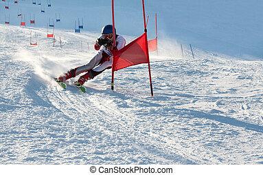Competitions on mountain ski on March 20 2010, parallel slalom, POLYARNYE ZORI, Lavrentiev Denis