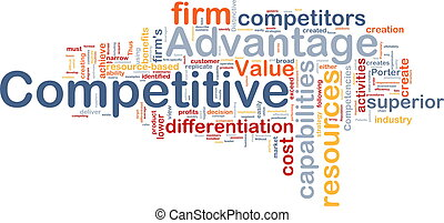 Competitive advantage background concept - Background...