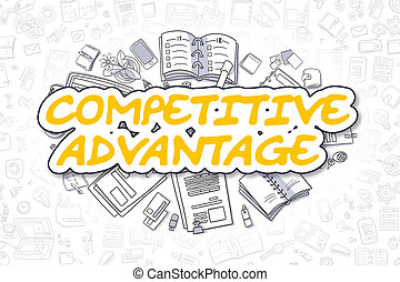Competitive Advantage - Business Concept.