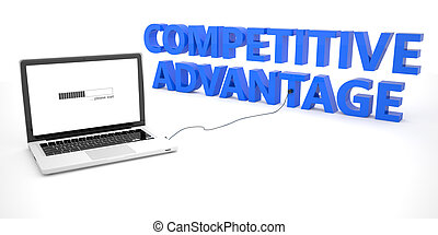 Competitive Advantage - laptop notebook computer connected...