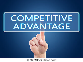 Competitive Advantage - hand pressing button on interface...