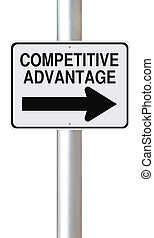 Competitive Advantage - A modified one way street sign...