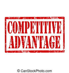 Grunge rubber stamp with text Competitive Advantage, vector illustration