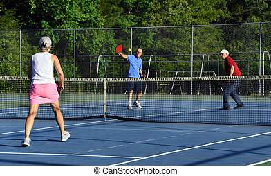 Competitive Game of Pickle Ball