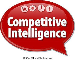 Competitive Intelligence  Business term speech bubble illustration