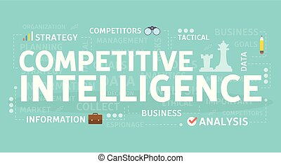 Competitive intelligence concept.