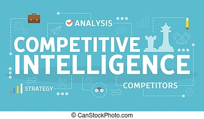 Competitive intelligence concept. Idea of business organization