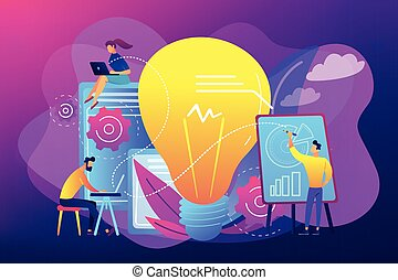 Competitive intelligence concept vector illustration.